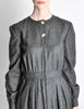 Valentino Vintage Charcoal Grey Wool Dress - Amarcord Vintage Fashion  - 4