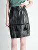Valentino Vintage Leather Pencil Skirt - Amarcord Vintage Fashion  - 2