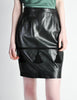 Valentino Vintage Leather Pencil Skirt - Amarcord Vintage Fashion  - 3
