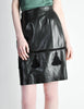 Valentino Vintage Leather Pencil Skirt - Amarcord Vintage Fashion  - 4
