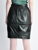 Valentino Vintage Leather Pencil Skirt - Amarcord Vintage Fashion  - 5