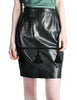 Valentino Vintage Leather Pencil Skirt - Amarcord Vintage Fashion  - 1