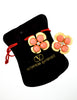 Valentino Vintage Gold Pink Flower Earrings