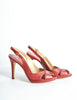Valentino Vintage Red Leather Strappy Heels - Amarcord Vintage Fashion  - 5