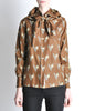 Valentino Vintage V Monogram Print Silk Shirt with Scarf - Amarcord Vintage Fashion  - 7