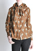 Valentino Vintage V Monogram Print Silk Shirt with Scarf - Amarcord Vintage Fashion  - 2