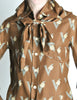 Valentino Vintage V Monogram Print Silk Shirt with Scarf - Amarcord Vintage Fashion  - 3