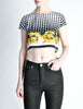 Versace Vintage Checkered Baroque Crop Top - Amarcord Vintage Fashion  - 4