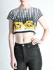 Versace Vintage Checkered Baroque Crop Top - Amarcord Vintage Fashion  - 2