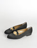 Versace Vintage Black Satin Medusa Loafers - Amarcord Vintage Fashion  - 5