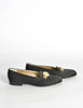 Versace Vintage Black Satin Medusa Loafers - Amarcord Vintage Fashion  - 4