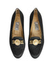 Versace Vintage Black Satin Medusa Loafers - Amarcord Vintage Fashion  - 1