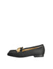 Versace Vintage Black Satin Medusa Loafers - Amarcord Vintage Fashion  - 2