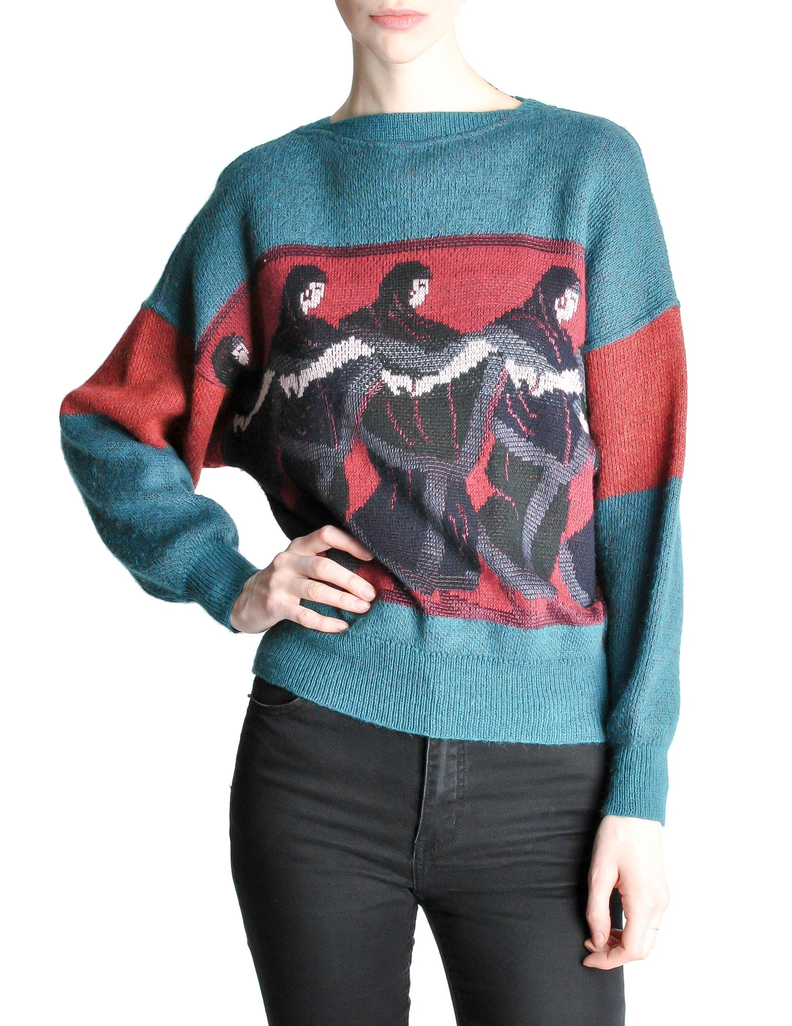 Versace Vintage 'Walk Like An Egyptian' Sweater - Amarcord Vintage Fashion  - 1