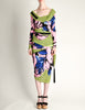 Versace Vintage Graphic Floral Print Top & Skirt Ensemble - Amarcord Vintage Fashion  - 3