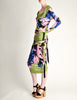 Versace Vintage Graphic Floral Print Top & Skirt Ensemble - Amarcord Vintage Fashion  - 4