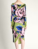 Versace Vintage Graphic Floral Print Top & Skirt Ensemble - Amarcord Vintage Fashion  - 6