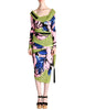 Versace Vintage Graphic Floral Print Top & Skirt Ensemble - Amarcord Vintage Fashion  - 1