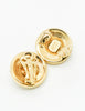 Versace Vintage Medusa Gold Rhinestone Earrings - Amarcord Vintage Fashion  - 5