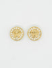 Versace Vintage Medusa Gold Rhinestone Earrings - Amarcord Vintage Fashion  - 2