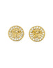 Versace Vintage Medusa Gold Rhinestone Earrings - Amarcord Vintage Fashion  - 1