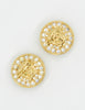 Versace Vintage Medusa Gold Rhinestone Earrings - Amarcord Vintage Fashion  - 3