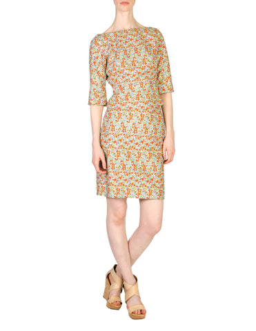 Versace Vintage Couture Multicolor Embroidered Top & Skirt Ensemble Set