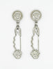 Versace Vintage Giant Silver Medusa Safety Pin Earrings - Amarcord Vintage Fashion  - 6