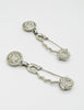Versace Vintage Giant Silver Medusa Safety Pin Earrings - Amarcord Vintage Fashion  - 3