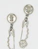 Versace Vintage Giant Silver Medusa Safety Pin Earrings - Amarcord Vintage Fashion  - 7