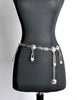 Versace Vintage Silver Medusa Safety Pin Chain Belt - Amarcord Vintage Fashion  - 2