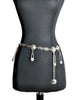 Versace Vintage Silver Medusa Safety Pin Chain Belt - Amarcord Vintage Fashion  - 1