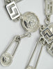 Versace Vintage Silver Medusa Safety Pin Chain Belt - Amarcord Vintage Fashion  - 3