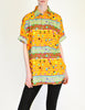 Versace Vintage Colorful Triangle Graphic Print Button Up Shirt - Amarcord Vintage Fashion  - 2