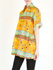 Versace Vintage Colorful Triangle Graphic Print Button Up Shirt - Amarcord Vintage Fashion  - 4