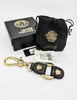 Versace Vintage Black and Gold Medusa Keyring - Amarcord Vintage Fashion  - 3