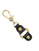 Versace Vintage Black and Gold Medusa Keyring - Amarcord Vintage Fashion  - 1