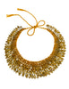 Vintage Brass Silver and Gold Safety Pin Knit Collar Necklace