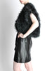 Vintage Black and Silver Marabou Bolero Vest - Amarcord Vintage Fashion  - 5