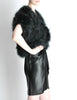 Vintage Black and Silver Marabou Bolero Vest - Amarcord Vintage Fashion  - 3