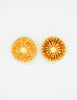 Christian Lacroix Vintage Gold Flower Burst Earrings - Amarcord Vintage Fashion  - 2
