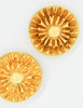 Christian Lacroix Vintage Gold Flower Burst Earrings - Amarcord Vintage Fashion  - 3