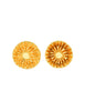 Christian Lacroix Vintage Gold Flower Burst Earrings - Amarcord Vintage Fashion  - 1