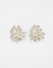 Christian Lacroix Vintage Silver Chrysanthemum Flower Earrings - Amarcord Vintage Fashion  - 2