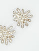 Christian Lacroix Vintage Silver Chrysanthemum Flower Earrings - Amarcord Vintage Fashion  - 4