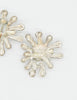 Christian Lacroix Vintage Silver Chrysanthemum Flower Earrings - Amarcord Vintage Fashion  - 5