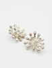 Christian Lacroix Vintage Silver Chrysanthemum Flower Earrings - Amarcord Vintage Fashion  - 3