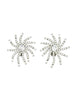 Vintage 1960s Rhinestone Burst Earrings - Amarcord Vintage Fashion  - 1