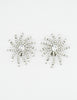 Vintage 1960s Rhinestone Burst Earrings - Amarcord Vintage Fashion  - 2