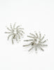 Vintage 1960s Rhinestone Burst Earrings - Amarcord Vintage Fashion  - 3